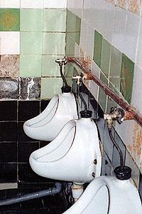 Toilet in the boarding-school
