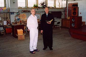 Laimonis Daģis shortly before his baptism. Jelgava prison