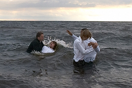 Baptism in the sea