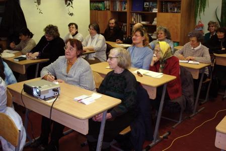 Bible seminar attendees