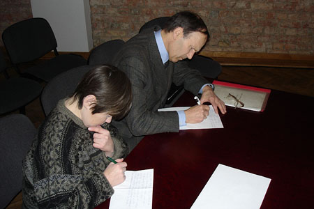 Rīgas reģiona komunikāciju semināra dalībnieki praktiskās nodarbībās