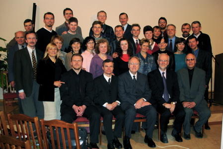 Dr Jan Paulsen with Lithuanian Mission Field ministers and workers.