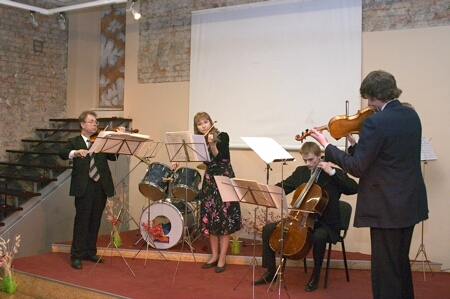 String ensemble AMAZEO in concert