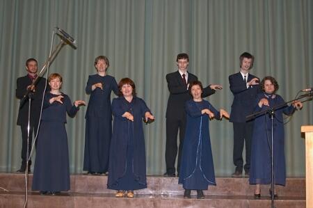 Deaf choir in concert in Riga I church
