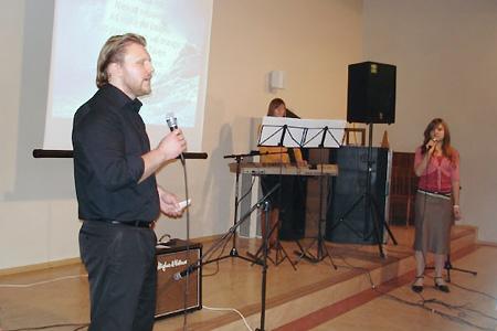 """""""Mira"""" Youth Church pastor Giedrius Rimša. January 2006, Lithuania"""