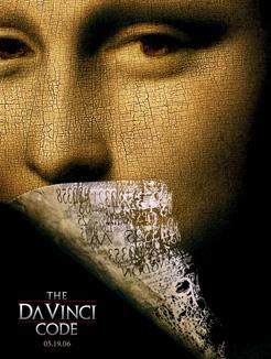 """Dena Brauna stāsta """"Da Vinči Kods"""" filmas reklāmas plakāts"""