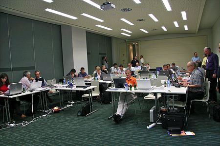 Adventist Communication Conference in Slovenia, September 2006. Conference room