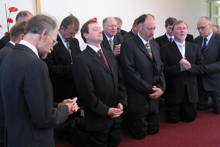 Ordination of three Estonian pastors — David Nõmmik, Viktor Nõmmik and Vitali Miroshnitshenko. June 9, 2007.