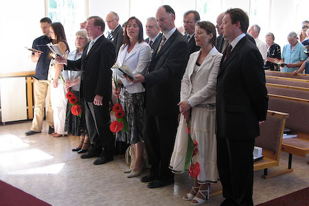 Closing worship service of the Estonian Conference Constituency meeting. June 9, 2007.