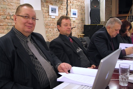 BAUC Winter Meeting. In the foreground Estonian Conference leaders. December 2009.
