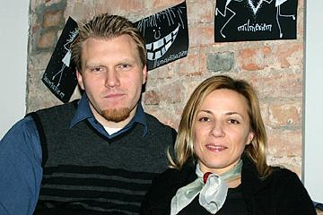 Giedrius Rimša ar sievu, Lietuvas pārstāvji. Rīga, 2004.g.